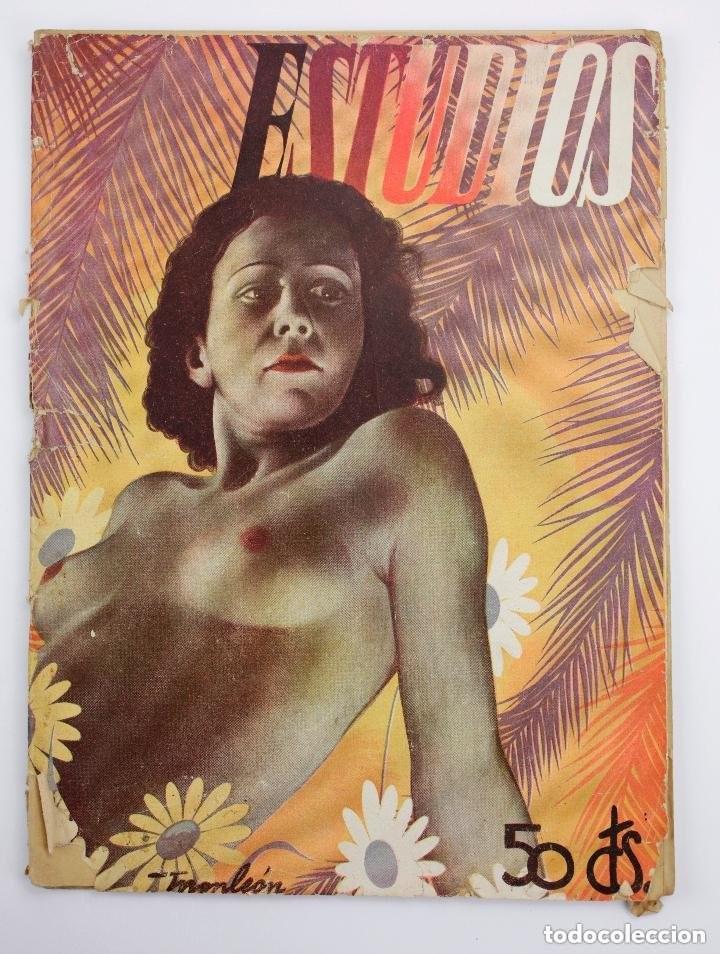 REVISTA ESTUDIOS, JUNIO 1935, NÚM. 142, PORTADA DE MANUEL MONLEÓN, VALENCIA. 19,5X26,5CM (Coleccionismo - Revistas y Periódicos Antiguos (hasta 1.939))
