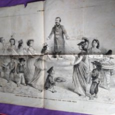 Coleccionismo de Revistas y Periódicos: RARO LA CICALA POLITICA GIORNALE UMORISTICO CON CARICATURE 1866 PERIODICO ITALIANO SATIRICO HUMORIST. Lote 147508890
