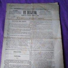 Coleccionismo de Revistas y Periódicos: EL ECIJANO PERIODICO DE LITERATURA COMERCIO Y ARTES AÑO I NUM 2 1848 PARTE OFICIAL MINISTERIO DE GUE. Lote 147516338