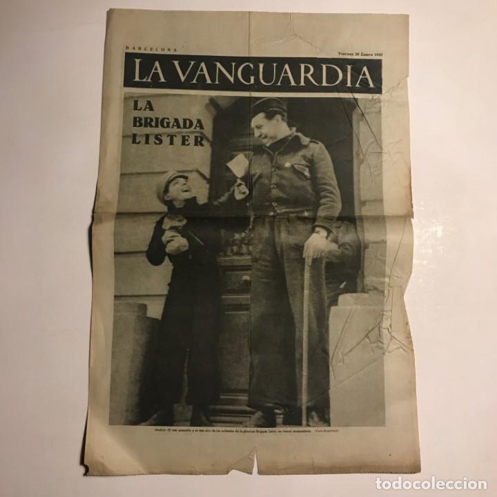 LA VANGUARDIA 1937. GUERRA CIVIL ESPAÑOLA. LA BRIGADA LISTER (Coleccionismo - Revistas y Periódicos Antiguos (hasta 1.939))