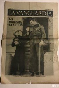 La Vanguardia 1937 Guerra civil española. La Brigada Lister