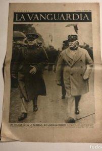 La Vanguardia 1937 Guerra civil española. Un monumento a América en Chateau Thierry