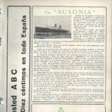 Coleccionismo de Revistas y Periódicos: BYN 8 ENE 1928.Nº 1912.SUELTOS: BUQUE S/S AUXONIA ASTILLEROS ARNALDO GENOVA. PERBOROL REAL CASA. Lote 147545662