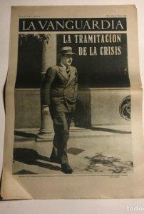 La Vanguardia 1937 Guerra civil española. La tramitación de la crisis