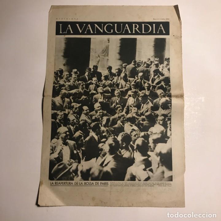 LA VANGUARDIA 1937. GUERRA CIVIL ESPAÑOLA. LA REAPERTURA DE LA BOLSA DE PARIS (Coleccionismo - Revistas y Periódicos Antiguos (hasta 1.939))