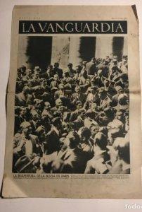 La Vanguardia 1937 Guerra civil española. La reapertura de la bolsa de Paris