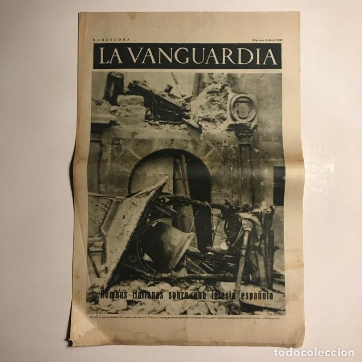 LA VANGUARDIA 1937. GUERRA CIVIL ESPAÑOLA. TRIJUEQUE. BRIHUEGA. ARGANDA. GUADIX. SAZA. CULLAR (Coleccionismo - Revistas y Periódicos Antiguos (hasta 1.939))
