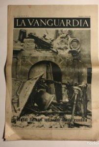 La Vanguardia 1937 Guerra civil española. Trijueque. Brihuega. Arganda. Guadix. Saza. Cullar