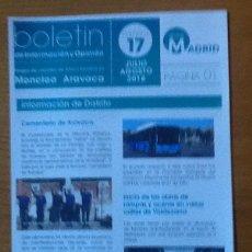 Coleccionismo de Revistas y Periódicos: BOLETÍN DE INFORMACIÓN Y OPINIÓN. NÚMERO 17, 2018. GRUPO DE VOCALES DE AHORA MADRID MONCLOA-ARAVACA. Lote 147597718