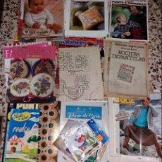 Coleccionismo de Revistas y Periódicos: MODA VINTAGE. REVISTAS DE LABORES (PUNTO DE CRUZ, GANCHILLO, ANILLAS, PATRONES, ETC). 5 KILOS. Lote 147618406