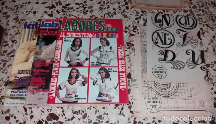 Coleccionismo de Revistas y Periódicos: Moda vintage. Revistas de labores (punto de cruz, ganchillo, anillas, patrones, etc). 5 kilos - Foto 5 - 147618406