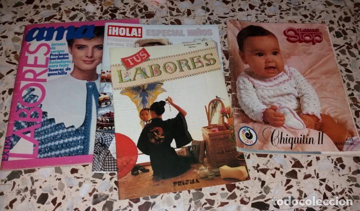 Coleccionismo de Revistas y Periódicos: Moda vintage. Revistas de labores (punto de cruz, ganchillo, anillas, patrones, etc). 5 kilos - Foto 7 - 147618406