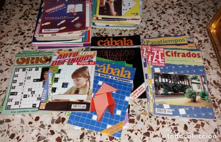 Coleccionismo de Revistas y Periódicos: Revista de pasatiempos. Lote de 90 ejemplares. Álbumes, extras, normales. De los 80 a 2000. Sin usar - Foto 3 - 147622054