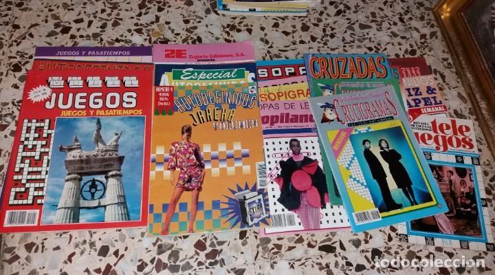 Coleccionismo de Revistas y Periódicos: Revista de pasatiempos. Lote de 90 ejemplares. Álbumes, extras, normales. De los 80 a 2000. Sin usar - Foto 4 - 147622054