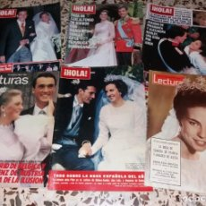 Coleccionismo de Revistas y Periódicos: REVISTAS DEL CORAZÓN. BODA CASA REAL, LOTE 5 DIFS, 1964 A 2004 (INFANTA PILAR, CLAUDIA FRANCIA, ETC). Lote 147623778