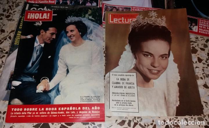 Coleccionismo de Revistas y Periódicos: Revistas del corazón. Boda casa real, lote 5 difs, 1964 a 2004 (Infanta Pilar, Claudia Francia, etc) - Foto 2 - 147623778
