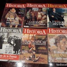 Coleccionismo de Revistas y Periódicos: LOTE DE 6 REVISTAS LA AVENTURA DE LA HISTORIA NUMEROS 9 , 18, 22 ,23 , 25 ,Y 26. Lote 147627114