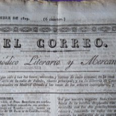 Coleccionismo de Revistas y Periódicos: EL CORREO PERIODICO LITERARIO Y MERCANTIL 1829 INF SOBRE MADRID MONUMENTO DEL SALON DEL PRADO ARCO D. Lote 147677394