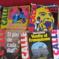 Coleccionismo de Revistas y Periódicos: LOTE 39 REVISTAS LA CALLE. DE FEBRERO 1981 A FEBRERO 1982. Lote 147747054