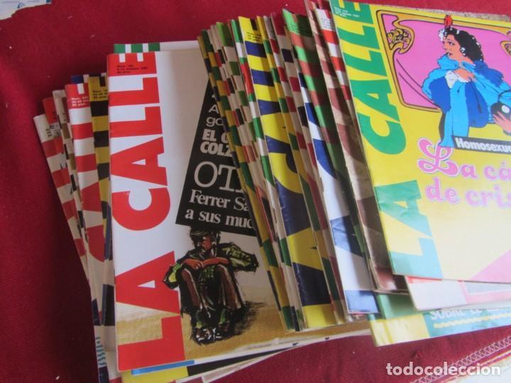 Coleccionismo de Revistas y Periódicos: LOTE 39 REVISTAS LA CALLE. DE FEBRERO 1981 A FEBRERO 1982 - Foto 3 - 147747054