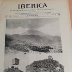 Coleccionismo de Revistas y Periódicos: IBERICA Nº658 AÑO 1926 LA TRIANGULACION GEODESICA DE LAS ISLAS CANARIAS . Lote 147753946