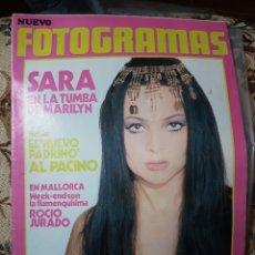 Coleccionismo de Revistas y Periódicos: SARA MONTIEL REVISTA NUEVO FOTOGRAMAS N. 1257, 17 NOVIEMBRE 1972. Lote 147766970