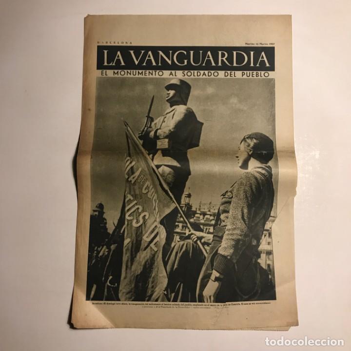 LA VANGUARDIA 1937. GUERRA CIVIL ESPAÑOLA. (Coleccionismo - Revistas y Periódicos Antiguos (hasta 1.939))