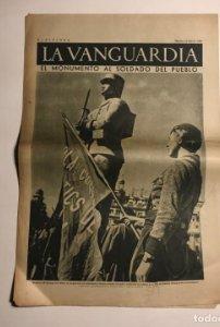 La Vanguardia 1937 Guerra civil española.