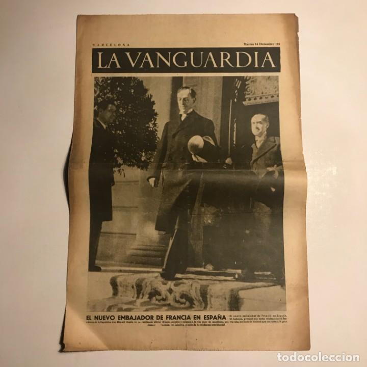 LA VANGUARDIA 1937. GUERRA CIVIL ESPAÑOLA. M.LABONNE. MANUEL AZAÑA (Coleccionismo - Revistas y Periódicos Antiguos (hasta 1.939))
