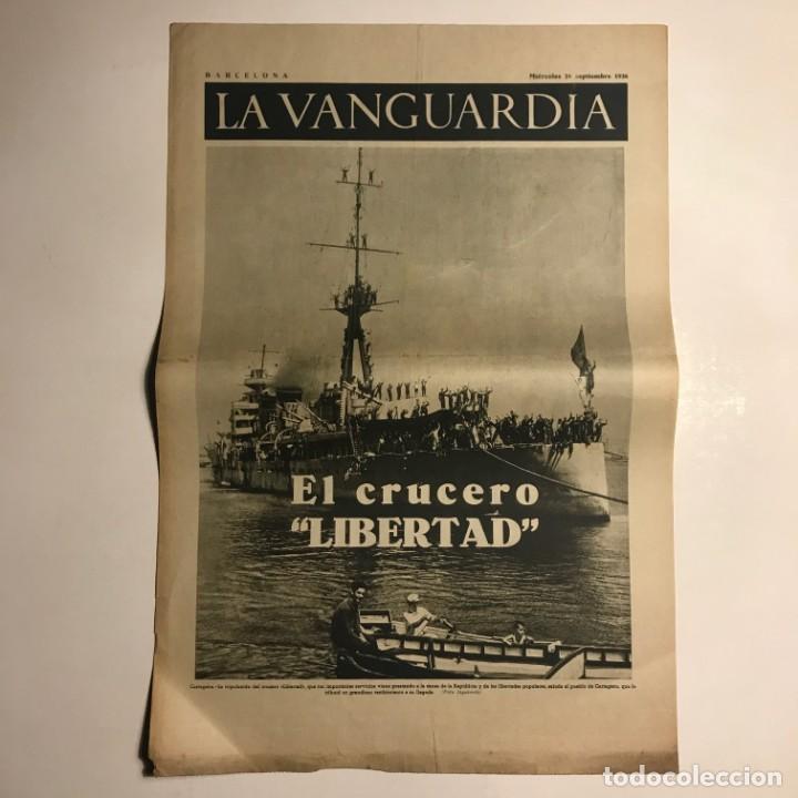 LA VANGUARDIA 1936. GUERRA CIVIL ESPAÑOLA. CARTAGENA. JACA. GRANADA. PARÍS. (Coleccionismo - Revistas y Periódicos Antiguos (hasta 1.939))