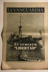 La Vanguardia 1936. Guerra civil española. Cartagena. Jaca. Granada. París.