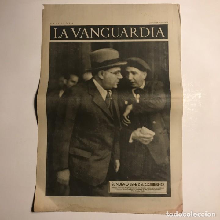 LA VANGUARDIA 1937. GUERRA CIVIL ESPAÑOLA. VALENCIA (Coleccionismo - Revistas y Periódicos Antiguos (hasta 1.939))