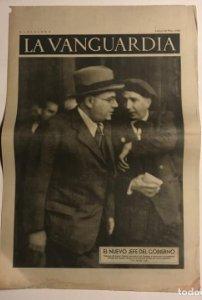 La Vanguardia 1937 Guerra civil española. Valencia