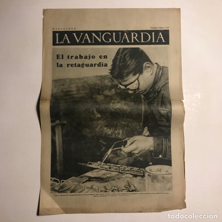 LA VANGUARDIA 1937. GUERRA CIVIL ESPAÑOLA. VALENCIA. ARAGÓN. MADRID (Coleccionismo - Revistas y Periódicos Antiguos (hasta 1.939))