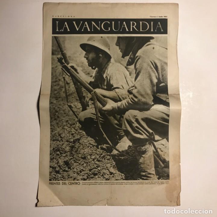 LA VANGUARDIA 1937. GUERRA CIVIL ESPAÑOLA. CARABANCHEL. ALCARRIA (Coleccionismo - Revistas y Periódicos Antiguos (hasta 1.939))