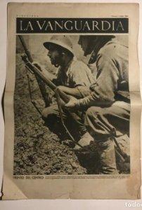 La Vanguardia 1937 Guerra civil española. Carabanchel. Alcarria