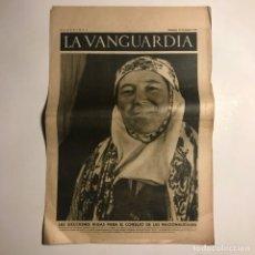 Coleccionismo de Revistas y Periódicos: LA VANGUARDIA 1937. GUERRA CIVIL ESPAÑOLA. JOAQUIN VILÁ-BISA. ANGEL PESTAÑA. J.M. DE AGUIRRE. Lote 147798330