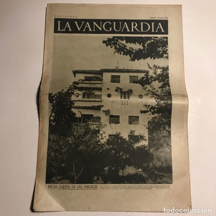 LA VANGUARDIA 1937. GUERRA CIVIL ESPAÑOLA. BUJARALOZ. ARAGÓN. VIRGILIO LLANOS. RICARDO SANZ. (Coleccionismo - Revistas y Periódicos Antiguos (hasta 1.939))