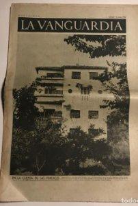 La Vanguardia 1937 Guerra civil española. Bujaraloz. Aragón. Virgilio Llanos. Ricardo Sanz.