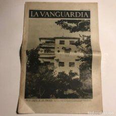 Coleccionismo de Revistas y Periódicos: LA VANGUARDIA 1937. GUERRA CIVIL ESPAÑOLA. BUJARALOZ. ARAGÓN. VIRGILIO LLANOS. RICARDO SANZ. . Lote 147798418