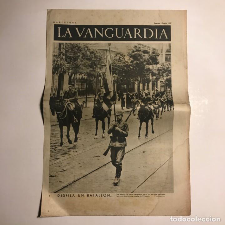 LA VANGUARDIA 1937. GUERRA CIVIL ESPAÑOLA. MADRID. I FERIA DEL LIBRO (Coleccionismo - Revistas y Periódicos Antiguos (hasta 1.939))