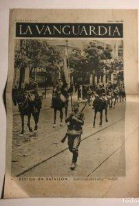 La Vanguardia 1937 Guerra civil española. Madrid. I Feria del libro
