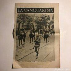 Coleccionismo de Revistas y Periódicos: LA VANGUARDIA 1937. GUERRA CIVIL ESPAÑOLA. MADRID. I FERIA DEL LIBRO. Lote 147798654