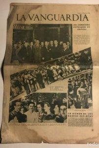 La Vanguardia 1938 Guerra civil española. Burgos. Mallorca. Zaragoza. Sandino