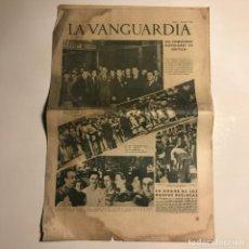 Coleccionismo de Revistas y Periódicos: LA VANGUARDIA 1938. GUERRA CIVIL ESPAÑOLA. BURGOS. MALLORCA. ZARAGOZA. SANDINO. Lote 147799414