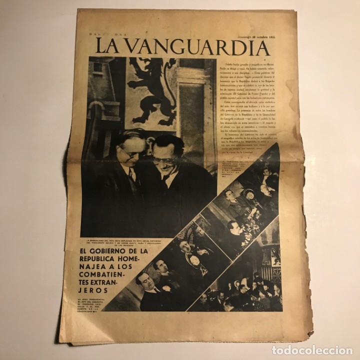 LA VANGUARDIA 1938. GUERRA CIVIL ESPAÑOLA. NEGRIN. ANDRE MARTY. LUIGI GALLO. (Coleccionismo - Revistas y Periódicos Antiguos (hasta 1.939))