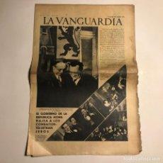 Coleccionismo de Revistas y Periódicos: LA VANGUARDIA 1938. GUERRA CIVIL ESPAÑOLA. NEGRIN. ANDRE MARTY. LUIGI GALLO.. Lote 147799742