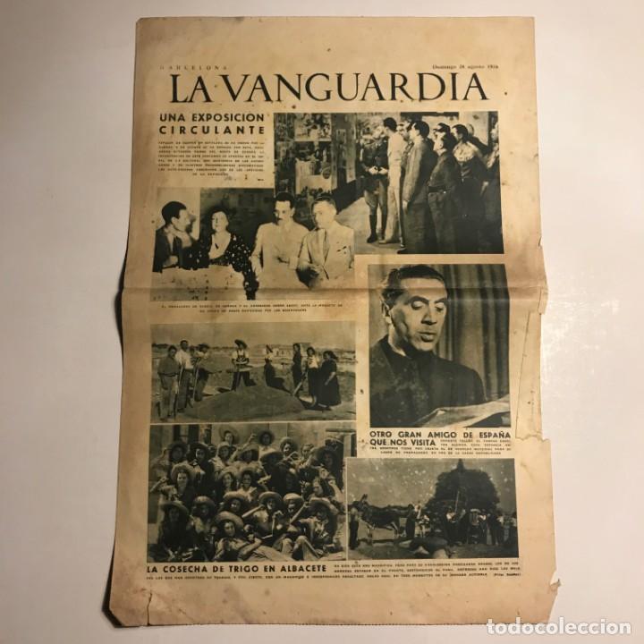 LA VANGUARDIA 1938. GUERRA CIVIL ESPAÑOLA. ERNESTO TOLLER. ALBACETE. COLONIA VASCA. (Coleccionismo - Revistas y Periódicos Antiguos (hasta 1.939))