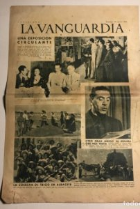 La Vanguardia 1938 Guerra civil española. Ernesto Toller. Albacete. Colonia vasca.