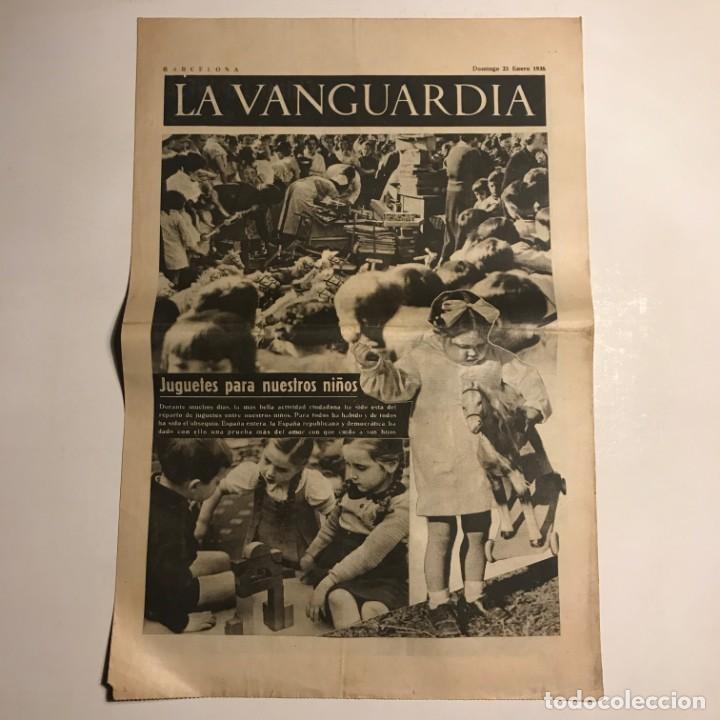 LA VANGUARDIA 1938. GUERRA CIVIL ESPAÑOLA. COMPANYS. COMORERA, PI I SUÑER, VIDIELLA Y CALVET. (Coleccionismo - Revistas y Periódicos Antiguos (hasta 1.939))